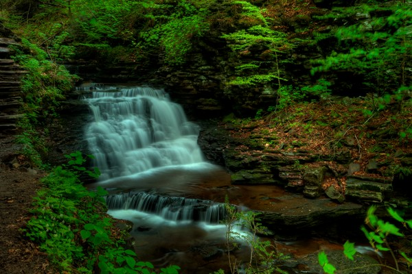 Ricketts Glen Fine Art Phtoograph of Waterfall by Michael Pucciarelli