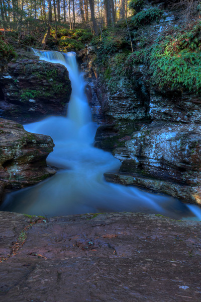A Fine Art Photograph Waterfall of Ricketts Glen by Michael Pucciarelli