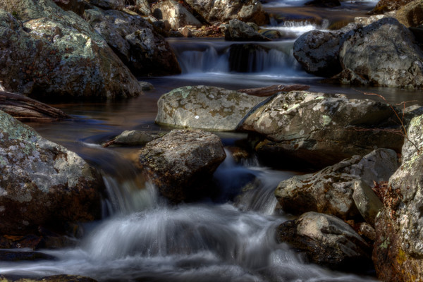 White Oak Canyon Falls Fine Art Photograph by Michael Pucciarelli