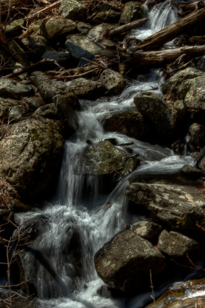 A Fine Art Photograph of Small Waterfalls in White Oak Canyon Falls by Michael Pucciarelli