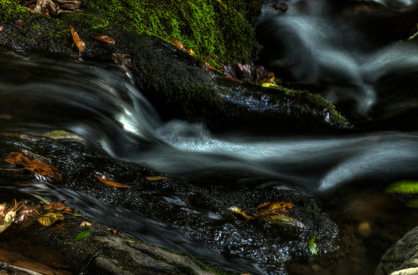A Fine Art Photograph of White Oak Canyon Falls by Michael Pucciarelli