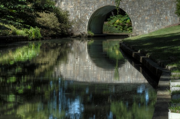Fine Art Photograph of Norfolk Bridge Reflection by Michael Pucciarelli
