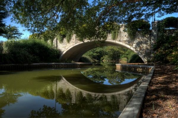 Fine Art Photographs of Bridge Reflections in Norfolk by Michael Pucciarelli