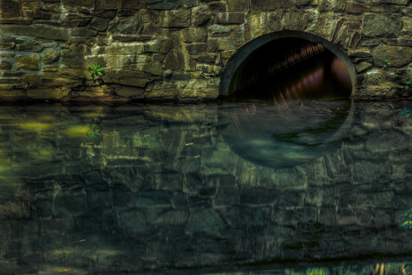 Fine Art Photographs of Bridge Reflection in Rock Creek by Michael Pucciarelli