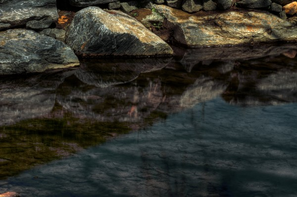 Fine Art Photograph of Kensington Rock Reflections of Rock Creek Park by Michael Pucciarelli