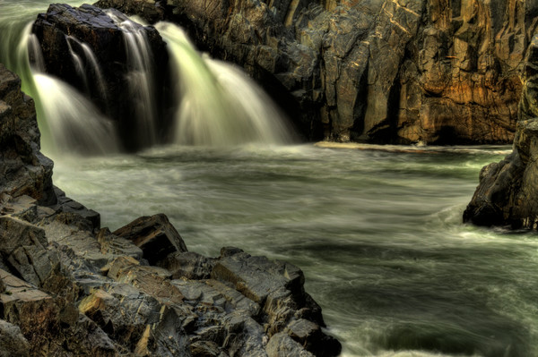 Fine Art Photograph of a Great Falls Waterfall at Carderock by Michael Pucciarelli