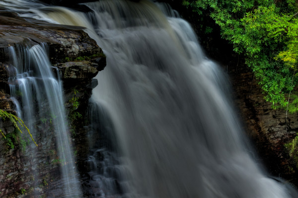 Fine Art Photograph of Black Waters Falls by Michael Pucciarelli