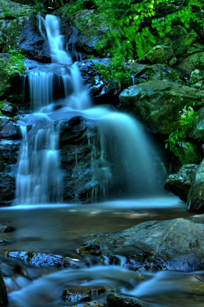A Dark Hollow Falls Fine Art Photograph by Michael Pucciarelli