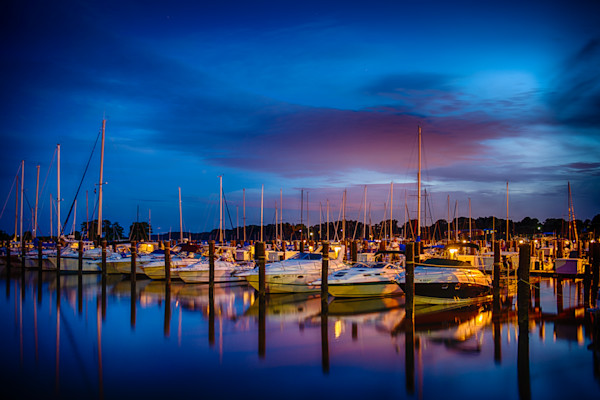 Havre de Grace Marina Fine Art Photograph by Robert Lott
