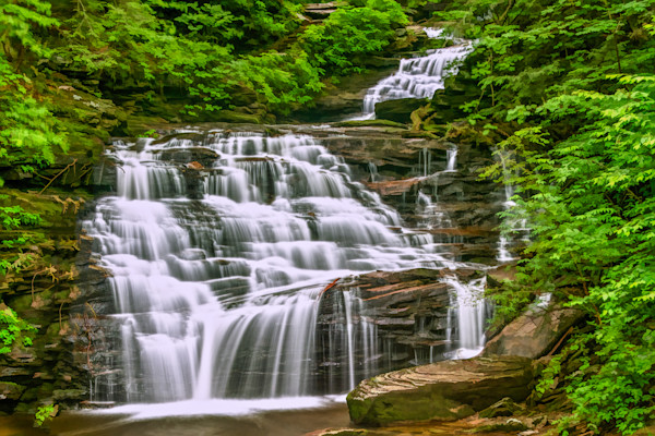 Purchase flowing waterfall photographs for sale as Fine Art, ready to hang