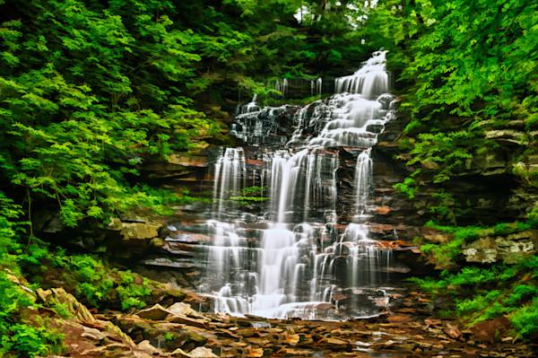 Ganoga Falls Fine Art Photograph by Robert Lott