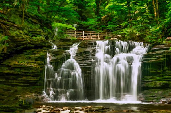 Wyandot Falls Fine Art Photograph by Robert Lott