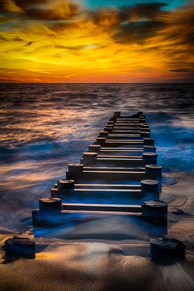 Outfall at Sunrise #2 Fine Art Photograph by Robert Lott
