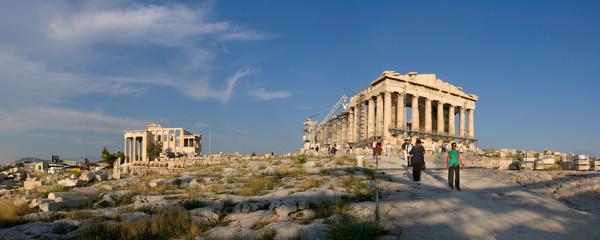 Acropolis Parthenon and Old Temple of Athena - Athens - Greece