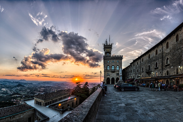 Church and Sunset - San Marino - Italy