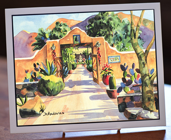 """Hacienda Gate II 8"""" x 10"""" Ceramic Tile"""
