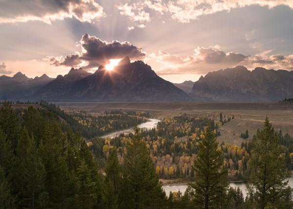 Last Glimpse in the Tetons