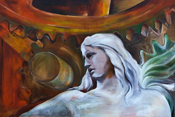 Mixed Media Painting of Acrylic and Oil by Prophetic Artist Patti Hricinak-Sheets