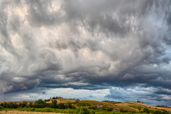 Storm Clouds and Farms - Montalcino - Italy