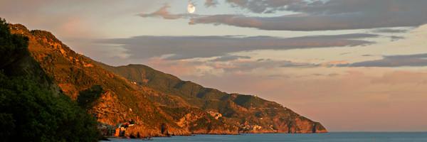 Moonrise - Cinque Terre - Italy