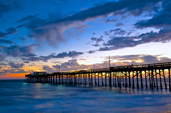 photo of the balboa pier in newport beach at sunset on the balboa peninsula