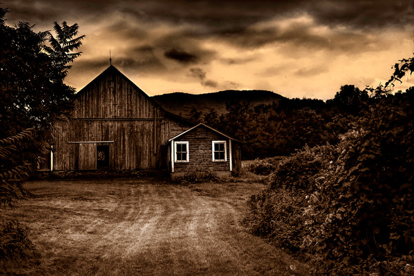 Moody afternoon landscape Vermont