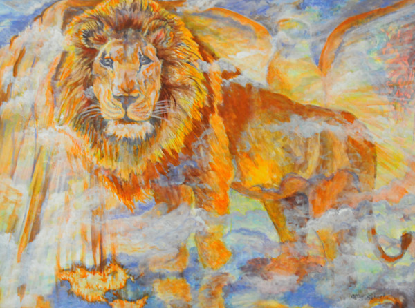 """Simply The King"" acrylic painting by prophetic artist Cathy Schock"