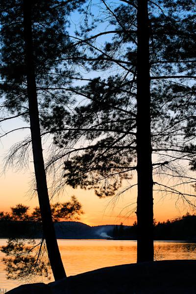 Sundown on Rock Lake