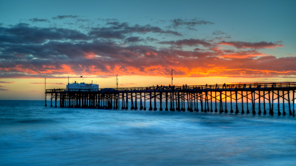 The Balboa Pier in Newport Beach, Ca, at sunset.