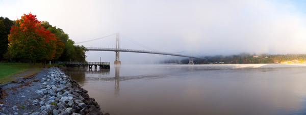 Mid-Hudson Bridge Morning Fog - Poughkeepsie - New York