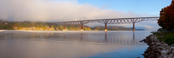 Morning Fog - Walkway Over the Hudson - Poughkeepsie - New York