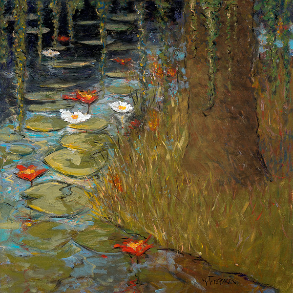 Water Lillies and Willow