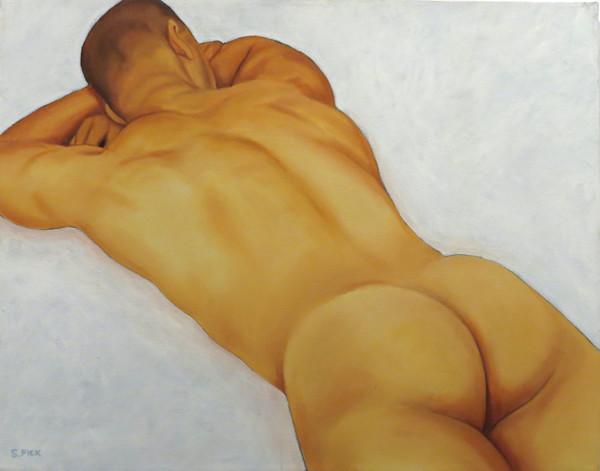 Male nude, prone