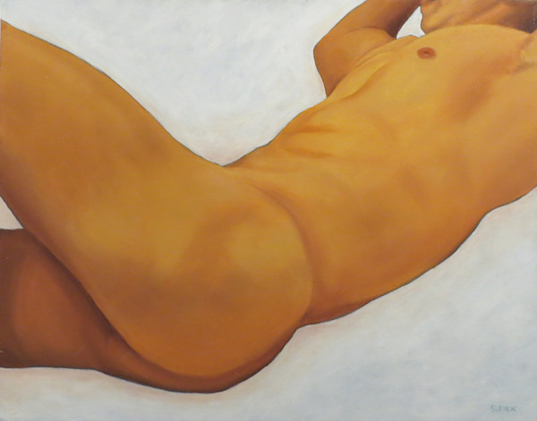 Male nude from side