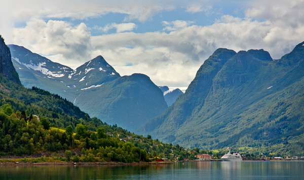 Strynevatnet Lake and Ship - Norway