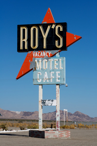 Roy`s Sign on Old Route 66, Ca.