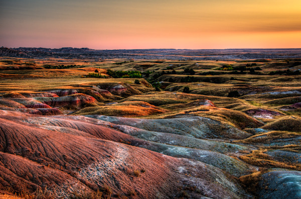 Badlands Colored Landscape Photograph for Sale as Fine Art