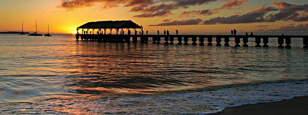 Sunset at Hanalei Pier | Kauai Fine Art Photography, Hawaii