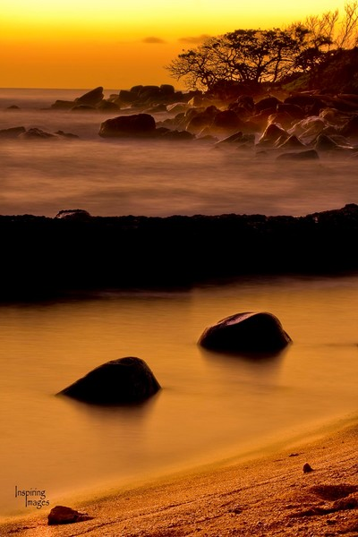Golden sunrise at Nukolii Beach | Kauai Fine Art Photography, Hawaii