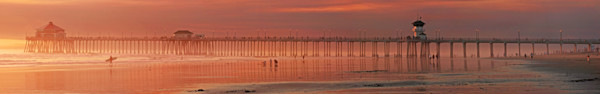 Huntington Beach Panorama and Surfer