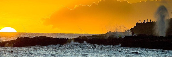 Sunset at Spouting Horn, Poipu | Kauai Fine Art Photogrpahy, Hawaii