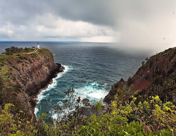Passing Squall at Kilauea Lighthouse | Kauai Fine Art Photography, Hawaii