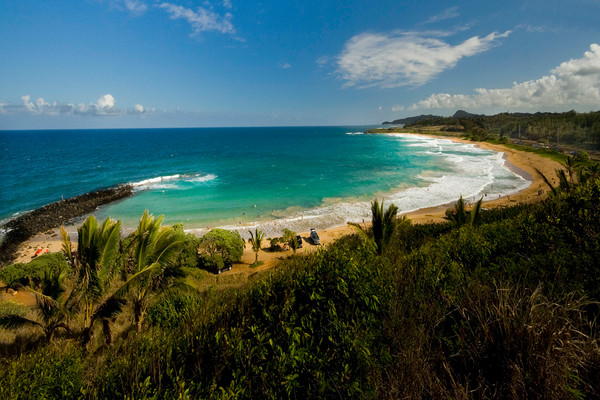 Overlook of Kealia Beach | Kauai Fine Art Photography, Hawaii