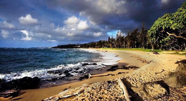 Sunny Wailua Beach | Kauai Fine Art Photography, Hawaii