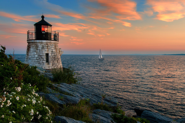 Castle Hill Lighthouse is a scenic seascape print for sale