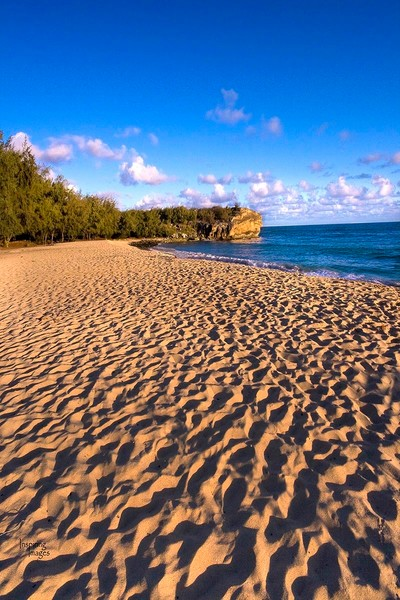 Footprints at Shipwrecks Beach | Kauai Fine Art Photography, Hawaii