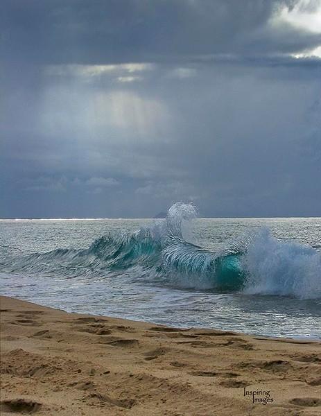 Clapping Wave, shore break Polihale Beach Kauai Fine Art Photography, Hawaii