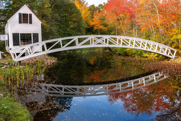 The Arched Bridge of Somesville Maine