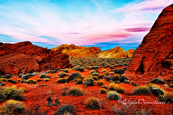 """ After Sunset in Valley of Fire"" glowab-copy"