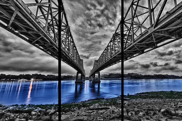 Bridge to Natchez - Trip Tych
